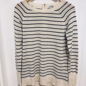 Nordstrom Halogen striped 100% cashmere sweater S